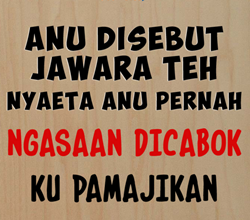 Gambar DP BBM Bahasa Sunda Lucu